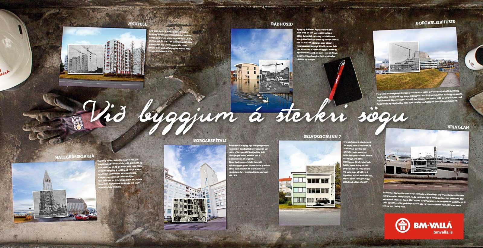 Auglýsingaherferð fyrir BM Vallá - Við byggjum á sterkri sögu