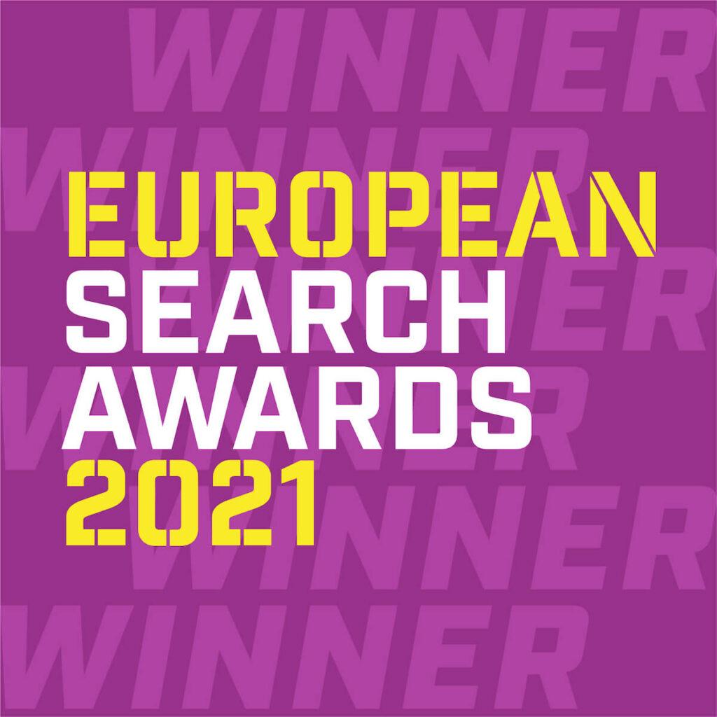 Search awards winner logo.