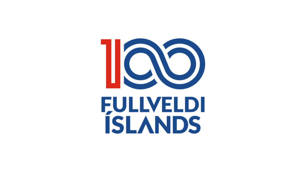 Fullveldi Íslands 100 ára merki