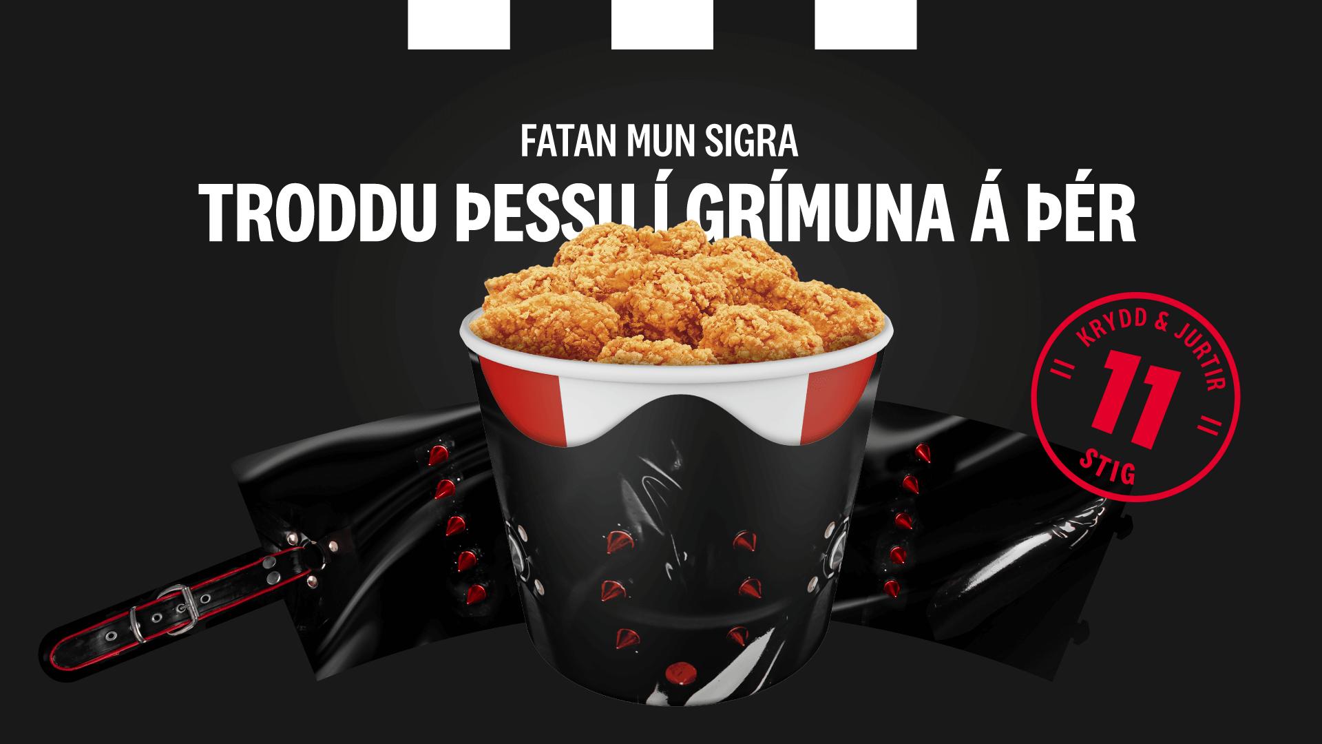Auglýsingaherferð fyrir KFC - Troddu þessu í grímuna á þér