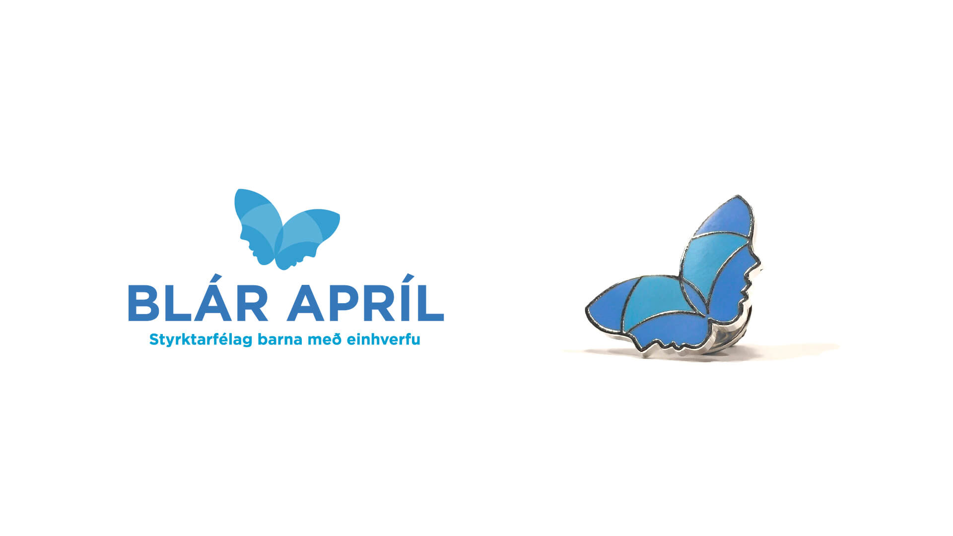 blár apríl - merki og skart