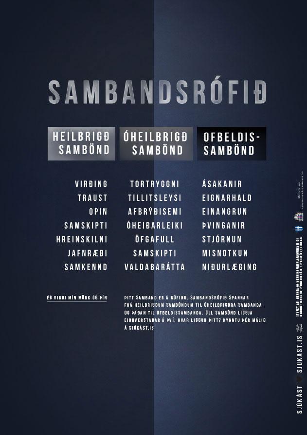 Auglýsingaherferð fyrir Stígamót 2019 - Sjúkást Sambandsrófið
