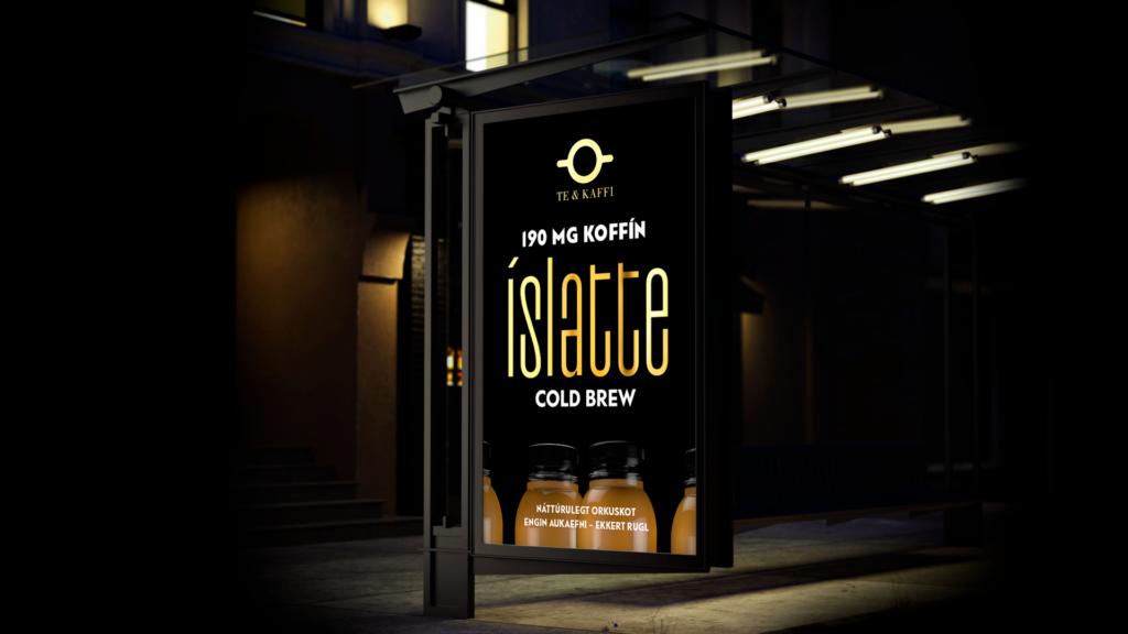 Auglýsingaherferð fyrir Te og kaffi - íslatte cold brew