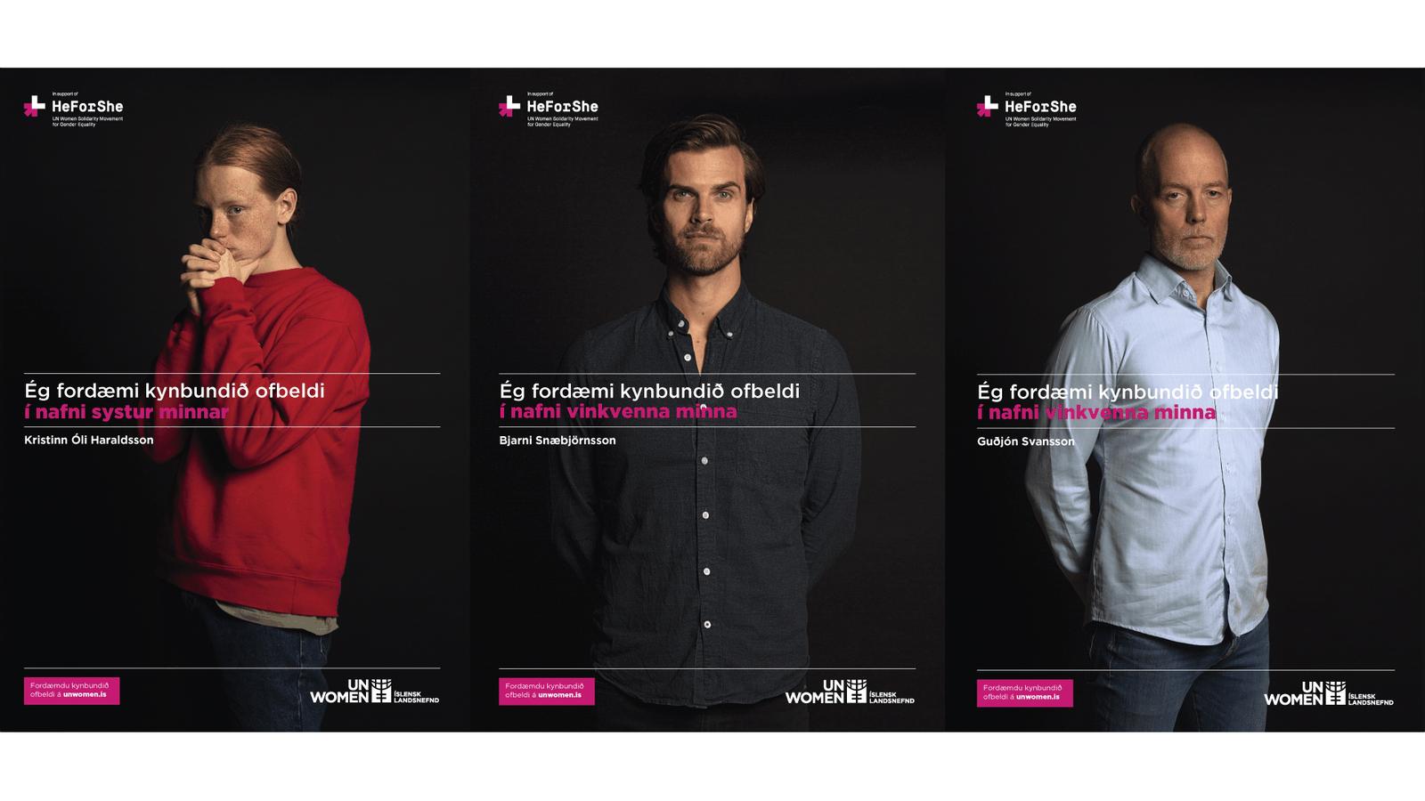 HeForShe veggspjald2 fyrir UN WOMEN