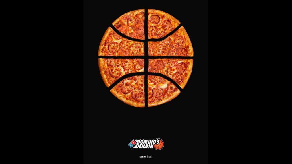 Pizza skorin eins og körfubolti.