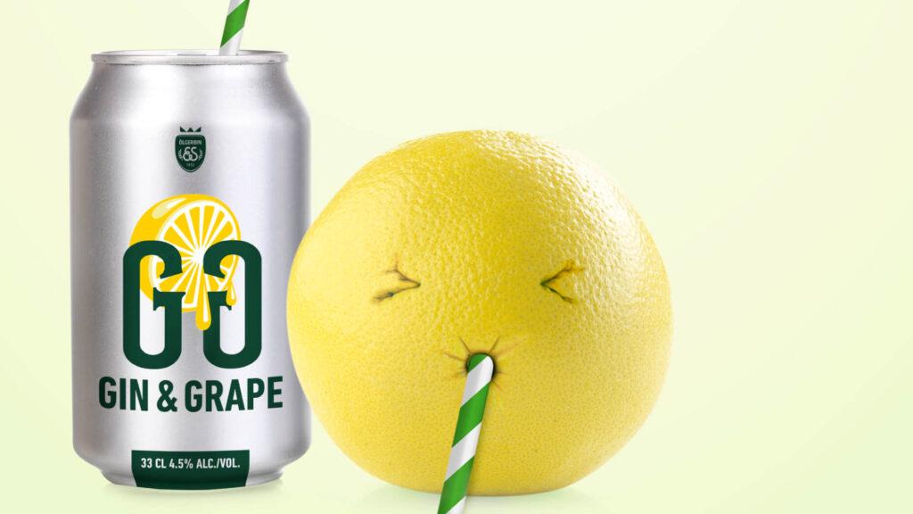 Grape-ávöxtur og dós.
