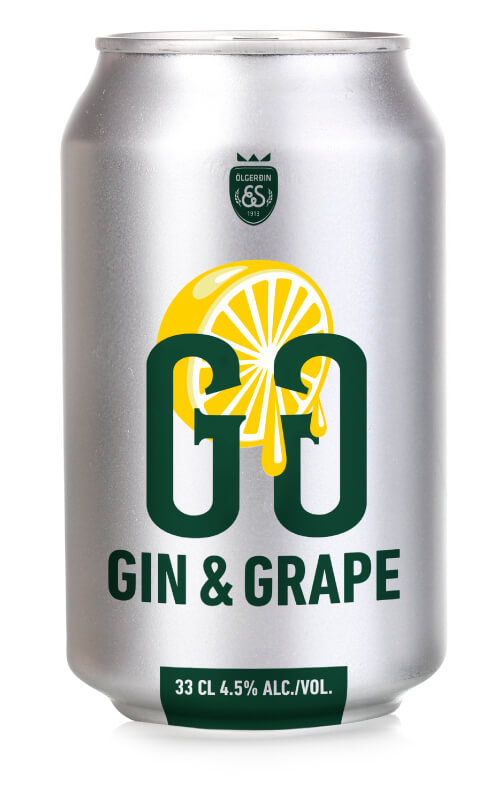 Dós af Gin og grape.