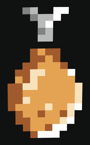 Kjúklingabiti - pixel.