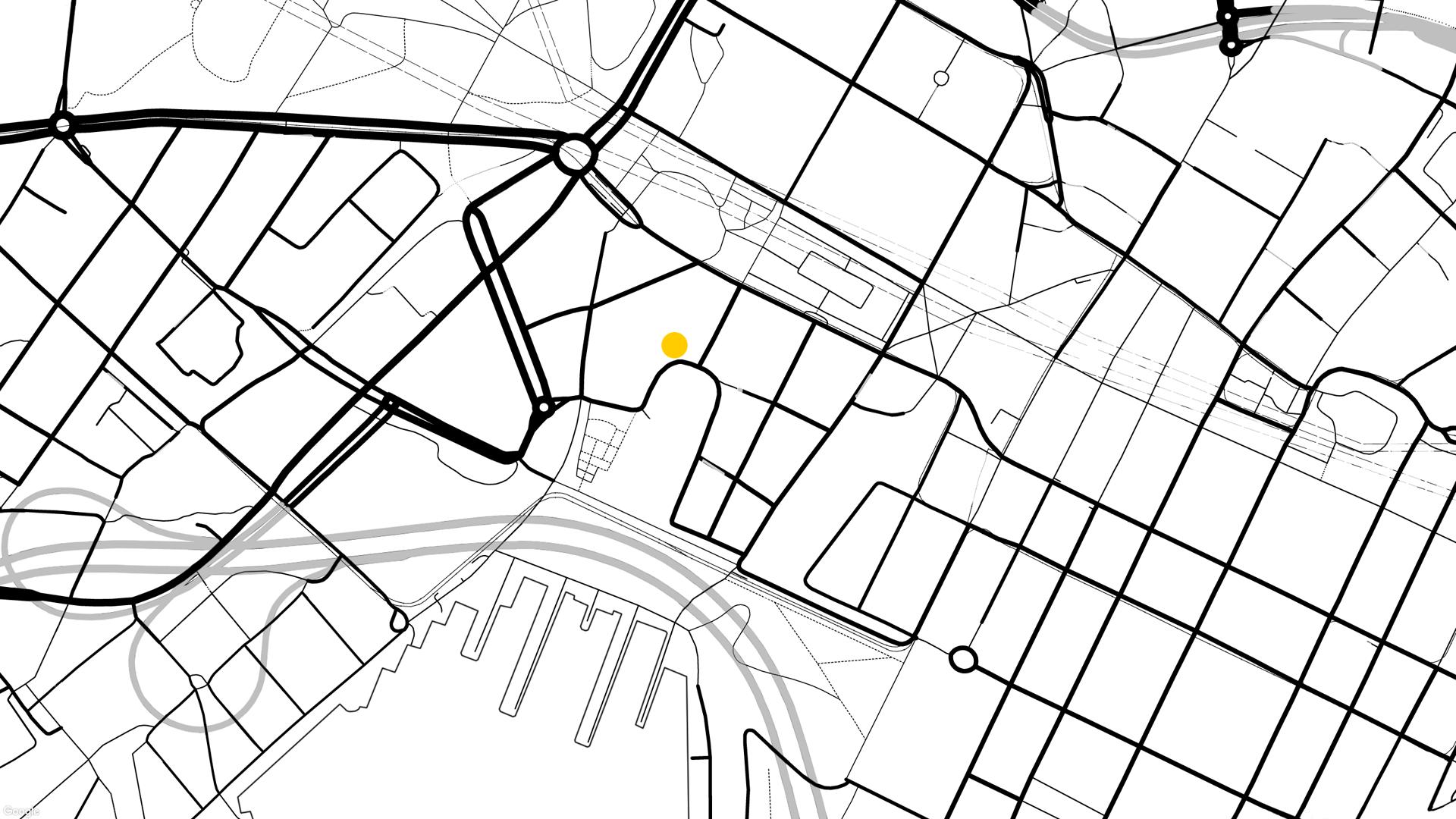 Kort af staðsetningu í Osló.